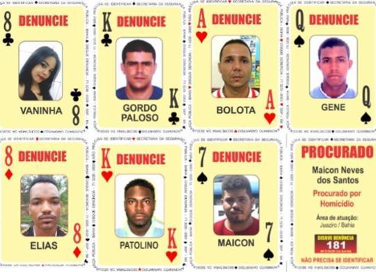 Sete pessoas são adicionadas ao Baralho do Crime da SSP | Divulgação | SSP