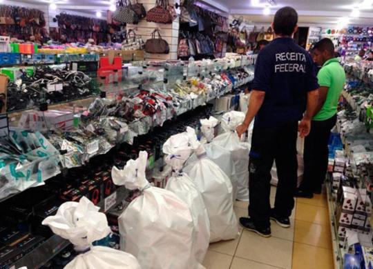 Mercadorias falsificadas avaliadas em R$ 400 mil são apreendidas em Salvador | Divulgação | Receita Federal