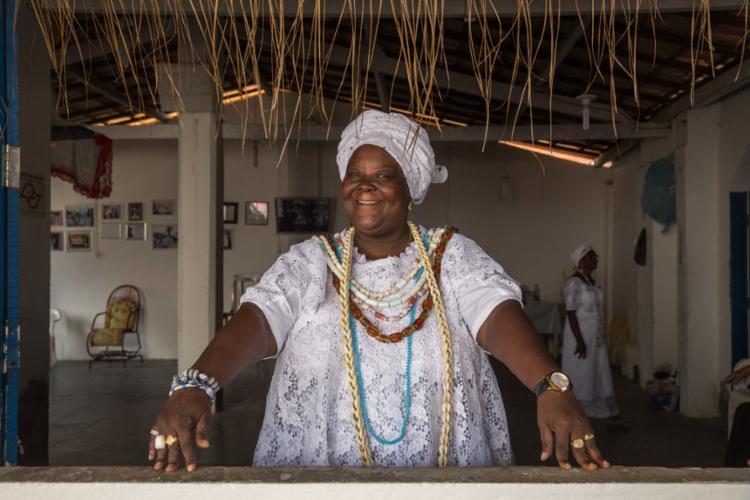 Mãe Preta, do Terreiro Ilê Kaiô Alaketu Axe Oxum, de Cachoeira