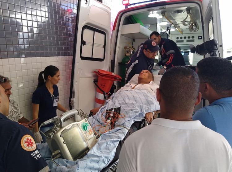 Cantor estava internado em Salvador após sofrer um AVC - Foto: Jadiel Luiz l Noticias da Bahia l 21.5.2019