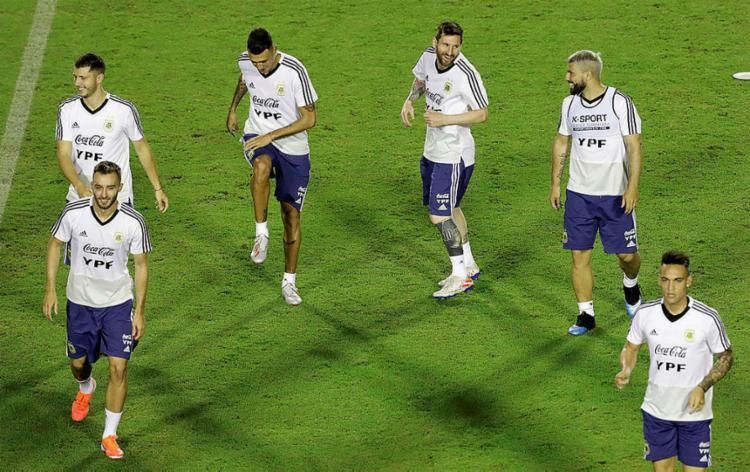 Todos os treinos argentinos são fechados, com apenas 15 minutos liberados para imprensa - Foto: Adilton Venegeroles l Ag. A TARDE l 11.6.2019