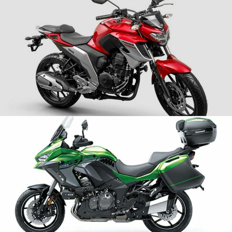 Versys 1000, lançamento da Kawasaki para encarar a estrada, nas revendas em julho, e a urbana Fazer 250 ABS versão 2020 já disponível - Foto: Divulgação