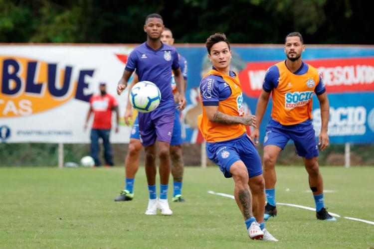 Neste retorno, o esquadrão já contará com os atacantes Élber e Gilberto - Foto: Felipe Oliveira | EC Bahia