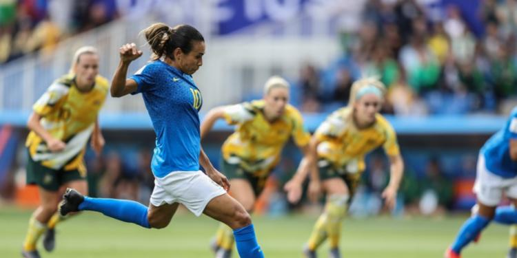 Seleção chegou a abrir 2x0 de vantagem com gols de Marta e Cristiane - Foto: Divulgação   CBF