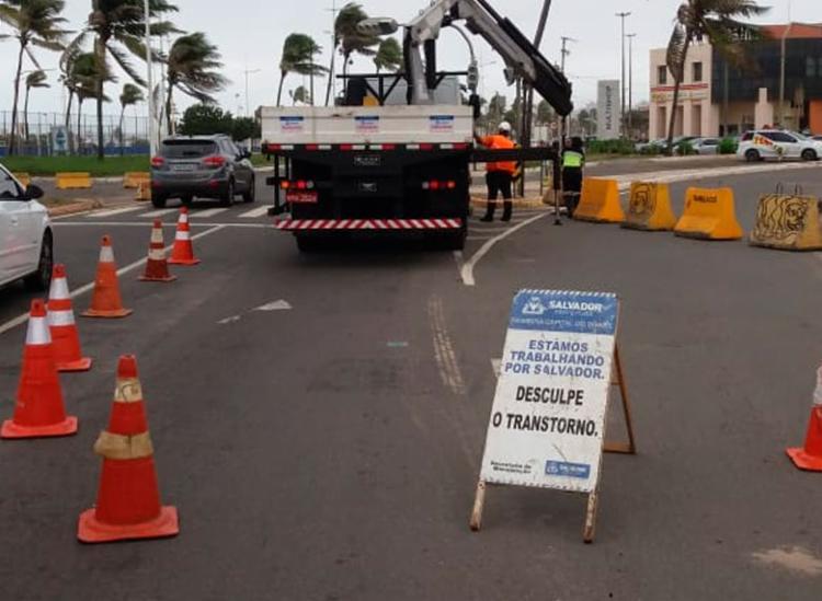 Reparos no buraco podem deixar local interditado até este sábado, 8 | Foto: Divulgação | Transalvador