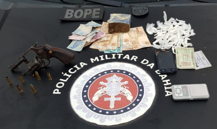 Material foi encontrado com suspeito dentro de imóvel | Foto: Divulgação | SSP-BA