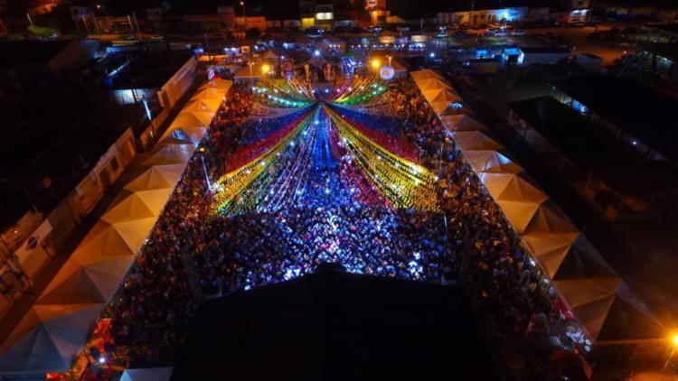 A Praça de Eventos foi ocupada por um grande público durante quatro dias de Arraiá do Conselheiro - Foto: Divulgação