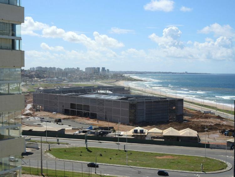 Equipamento está sendo construído na orla da capital - Foto: Xando Pereira | Ag. A TARDE