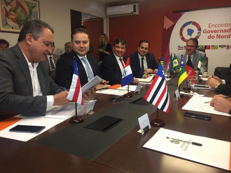 Rui Costa está em Brasília reunido com demais governadores nordestinos - Foto: Camila Peres_GOVBA
