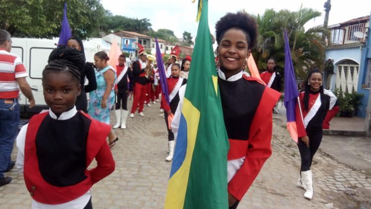 Fanfarra do Colégio Estadual Yeda Barradas Carneiro, de Conceição de Feira, realiza ensaio - Foto: Lenildes Moreira