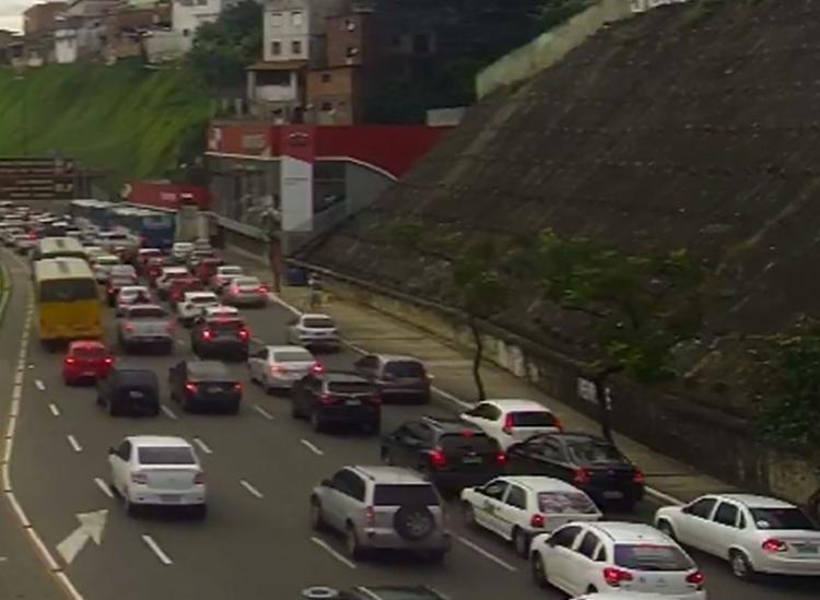 Acidente aconteceu no Dique do Tororó, sentido Bonocô - Foto: Divulgação | Transalvador