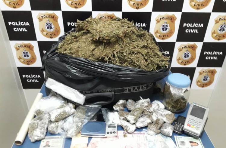 Material foi encontrado na casa de um dos suspeitos - Foto: Divulgação   Polícia Civil