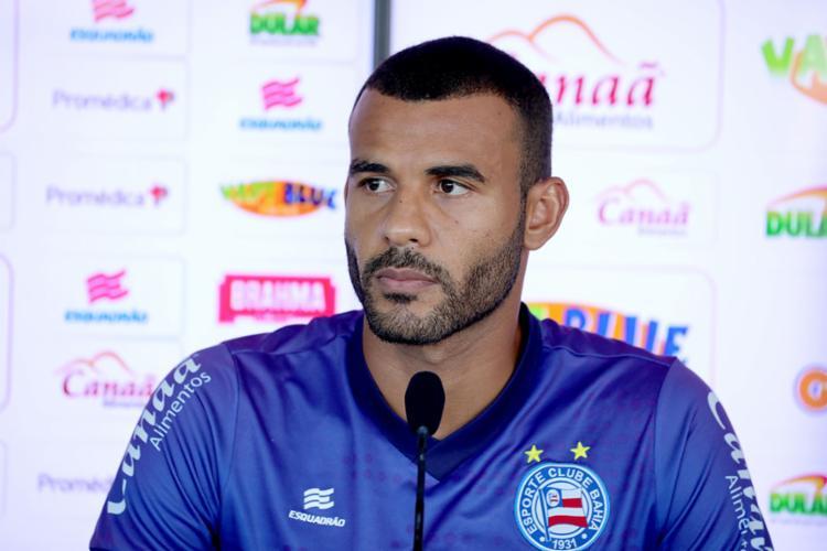 Ex-zagueiro do Inter, Ernando pregou respeito ao adversário desta quarta-feira, 12 - Foto: Felipe Oliveira | EC Bahia