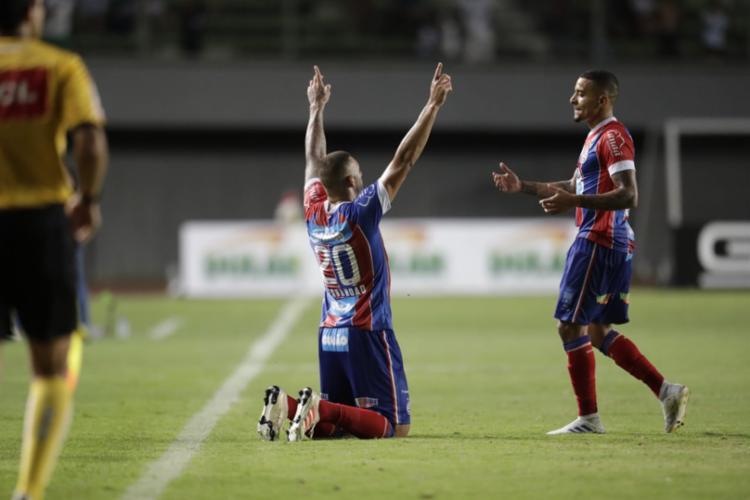 O Esquadrão venceu o Grêmio, por 1 a 0 - Foto: Adilton Venegeroles | Ag. A TARDE