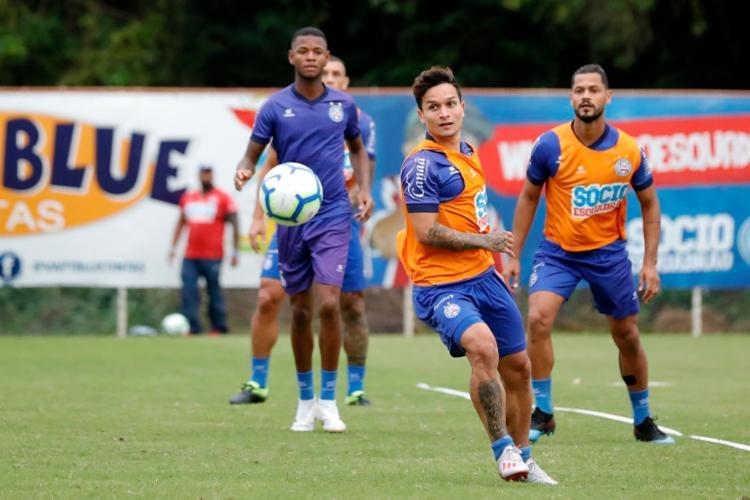 Com terceiro cartão amarelo, Artur desfalcará o Tricolor na partida desta quarta-feira, 12 - Foto: Felipe Oliveira   EC Bahia