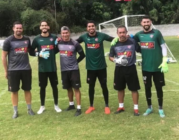 Martin Rodriguez (à dir.) treinou com o elenco Rubro-Negro nesta manhã - Foto: Divulgação | EC Vitória