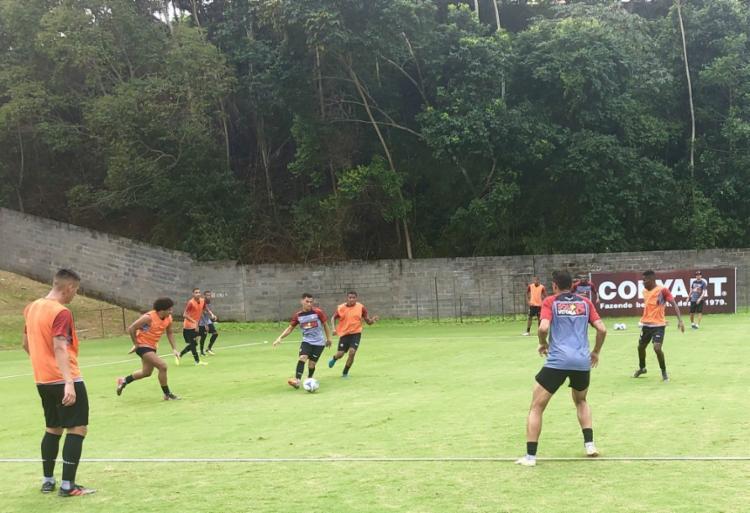 Vitória treinou em dois períodos nesta segunda-feira - Foto: Divulgação   EC Vitória