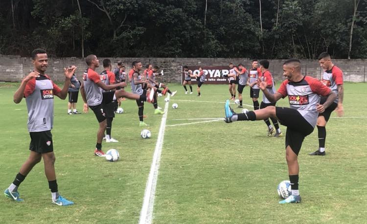 O Vitória mantém o treinamento intenso mesmo durante a parada da Copa América - Foto: Divulgação | EC Vitória
