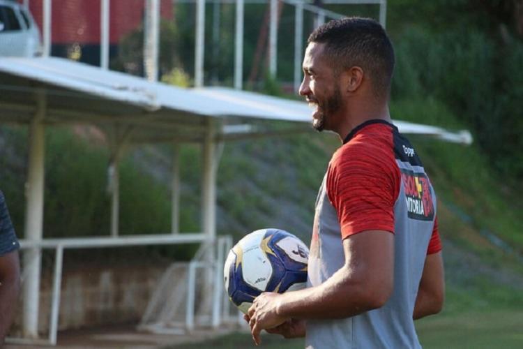 Atacante Felipe Garcia apresentou uma melhora satisfatória a transição - Foto: Divulgação | EC Vitória
