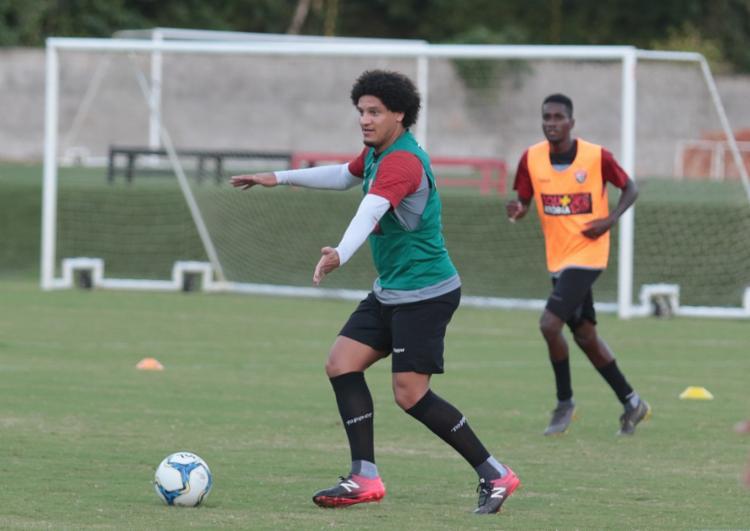 Os jogadores que não foram titulares contra o Bragantino, participaram de um coletivo com a equipe sub-23 - Foto: Divulgação | EC Vitória