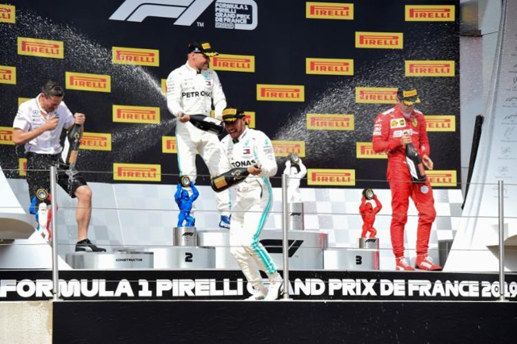 Lewis Hamilton dominou a corrida em Le Castellet de ponta a ponta, e venceu o GP da França - Foto: Boris Horvat | AFP