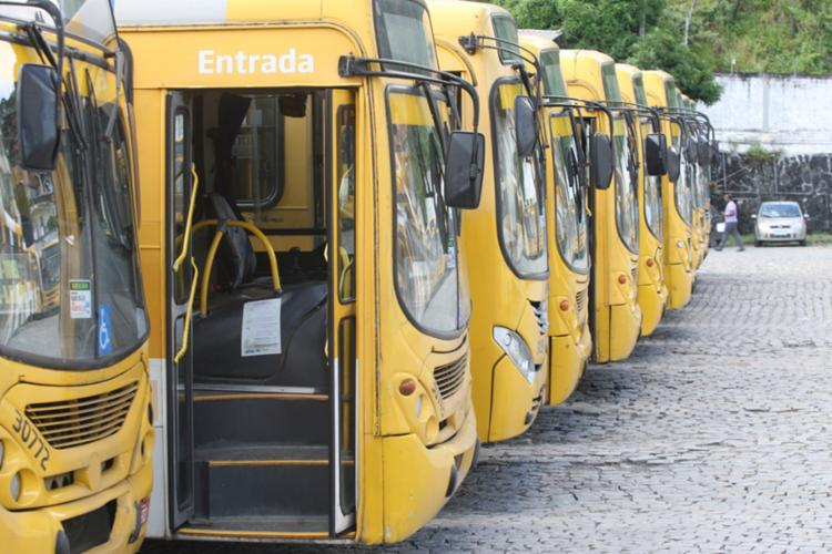 Sindicato dos rodoviários apoiou a mobilização nacional e coletivos não saíram das garagens nesta sexta-feira, 14 - Foto: Luciano da Matta | Ag. A TARDE