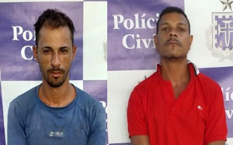 """Ambos são suspeitos de envolvimento na morte de Adriano Alves Pereira, o """"Badega"""" - Foto: Divulgação   SSP"""