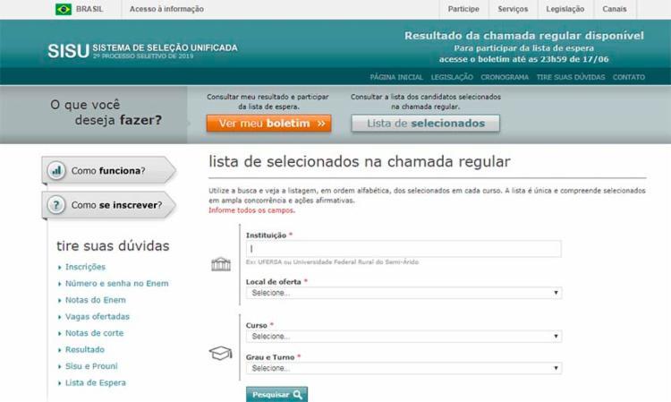 59.028 vagas foram ofertadas em cerca de 76 instituições de ensino superior - Foto: Reprodução | Internet