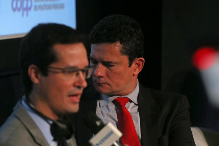 O ministro da Justiça Sérgio Moro e o procurador da Lava Jato, Deltan Dallagnol, tiveram os celulares invadidos - Foto: Hélvio Romero l Estadão Conteúdo
