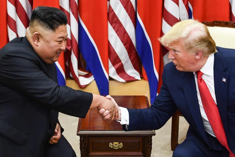 Trump agradeceu a Kim por aceitar seu convite para encontrá-lo na zona desmilitarizada - Foto: Brendan Smialowski | AFP