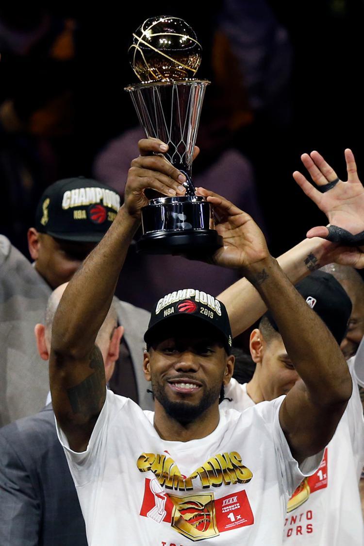 Kawhi Leonard foi eleito o melhor jogador da final da NBA 2018/2019 - Foto: Lachlan Cunningham   AFP