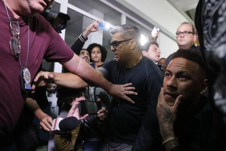 Jogador prestou depoimento sobre acusação de crime de informática - Foto: Fernando Frazão l Agência Brasil