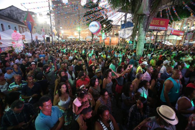 Os festejos juninos no Pelourinho ocorrem entre os dias 20 e 24 - Foto: Luciano Carcará l Ag. A TARDE l 24.6.18