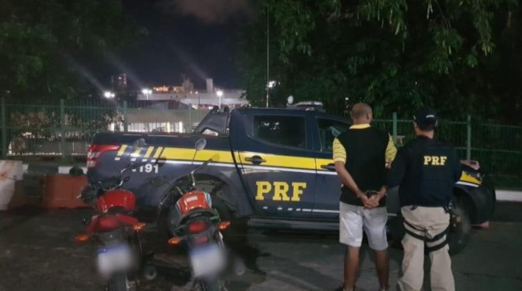 Veículo havia sido roubado em Salvador e estava com a placa trocada para 'burlar' fiscalizações - Foto: Divulgação | PRF