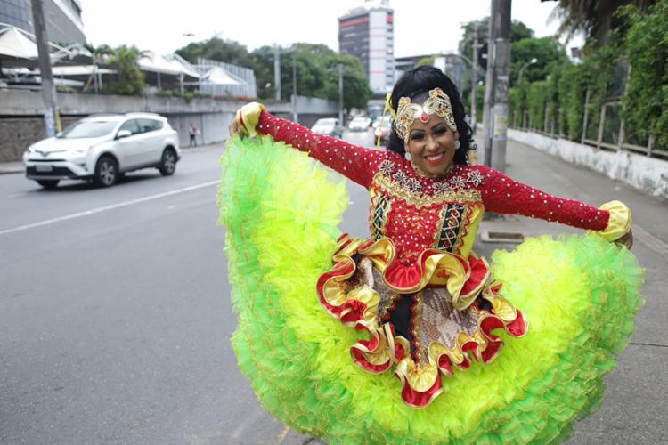 Tamiles Pimenta dança quadrilha junina há 15 anos - Foto: Uendel Galter | Ag. A TARDE