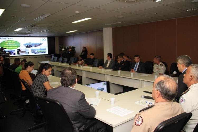 Coletiva foi realizada no Centro de Operações e Inteligência, no CAB - Foto: Divulgação | SSP