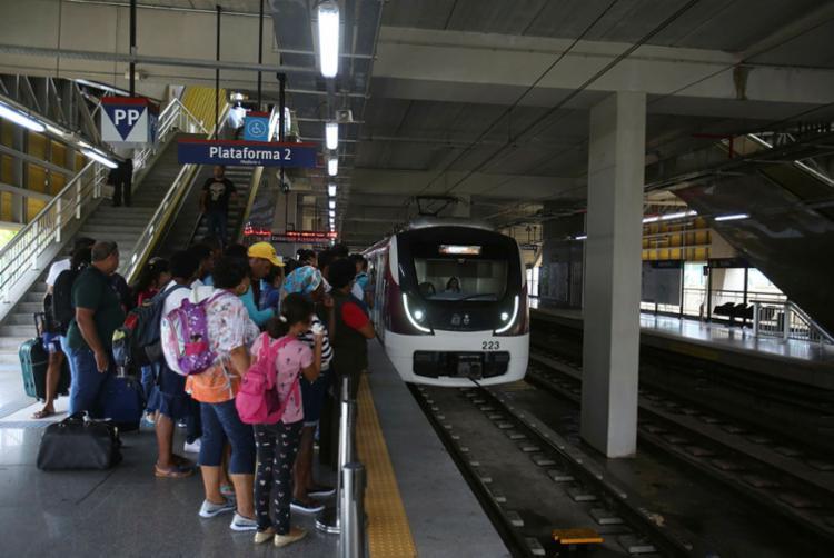 Segundo a CCR Metrô, o transporte irá funcionar normalmente, das 5h à meia-noite - Foto: Joá Souza | Ag. A TARDE