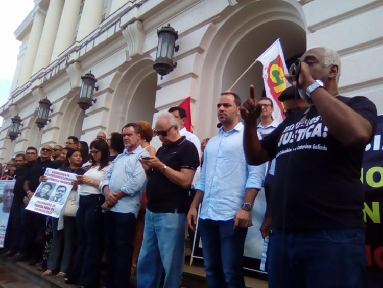 Rodoviários solicitam à Justiça o julgamento dos suspeitos de matar o casal - Foto: Joá Souza   Ag. A TARDE