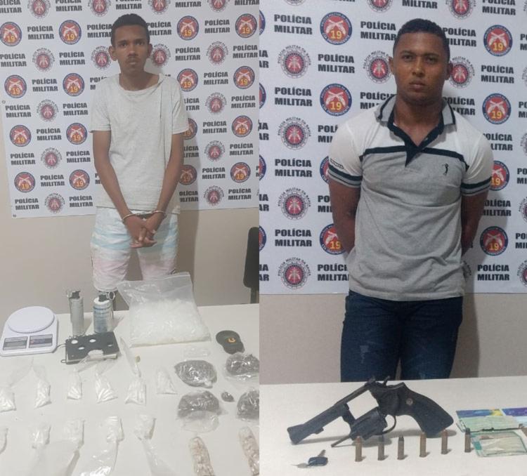 Júlio (à esq) e Deivison foram presos em ações na madrugada deste domingo - Foto: Divulgação | SSP-BA