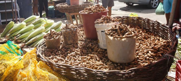 Amendoim, laranja, milho, coco e carimã estão entre os produtos comercializados - Foto: Margarida Neide   Ag. A TARDE