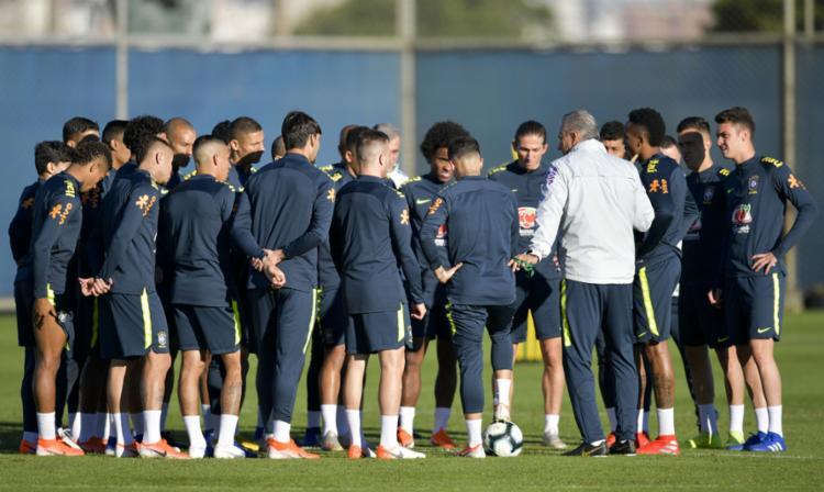 A seleção brasileira realizou em Porto Alegre três treinos fechados - Foto: Raul Arboleda l AFP