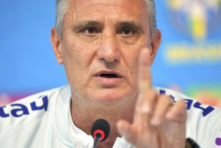 Treinador da seleção brasileira durante coletiva na Granja Comary - Foto: Carl de Souza l AFP