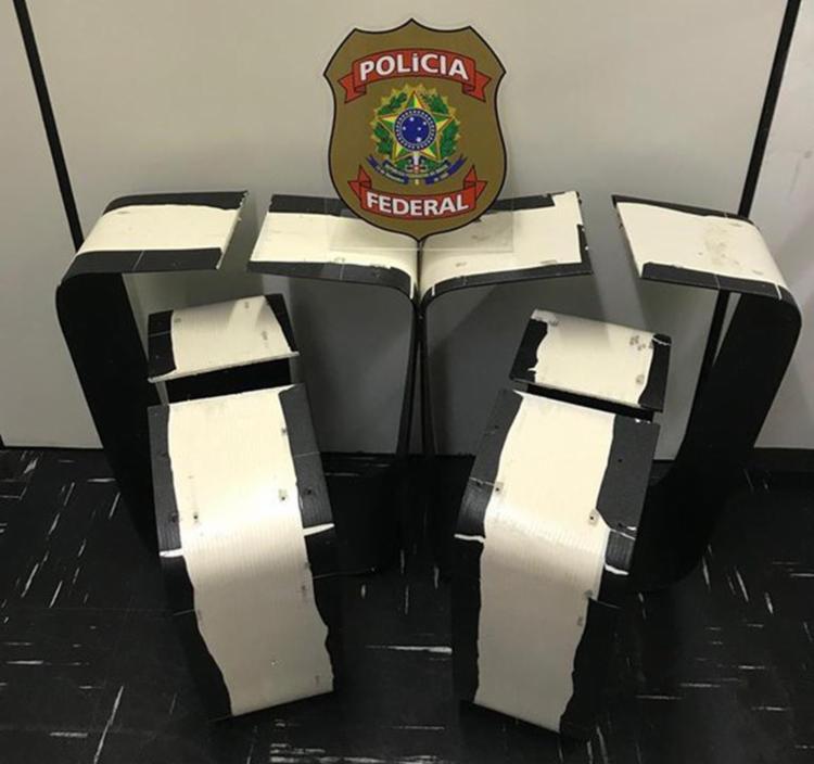 Essa é a segunda apreensão da Polícia Federal no aeroporto de Salvador só este mês. - Foto: Divulgação   Polícia Federal