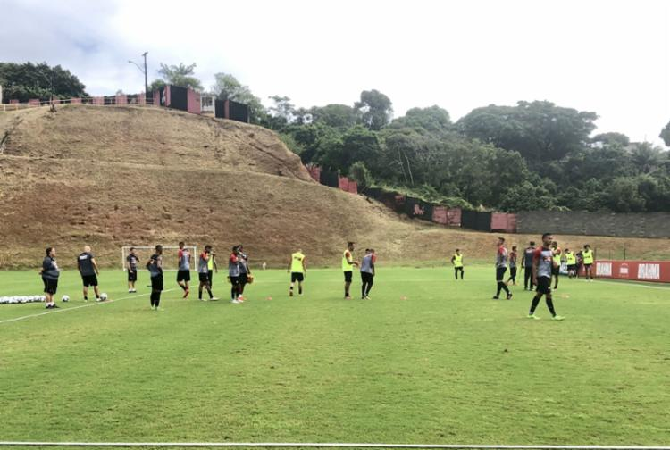 O elenco do Leão, que treinou no sábado, 15, retomou as atividades na manhã deste domingo, 16 - Foto: Divulgação | EC Vitória