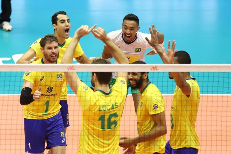 Resultado deixou o Brasil na liderança da Liga das Nações com 30 pontos - Foto: William Lucas | CBV