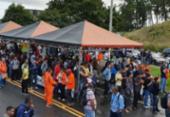 Trabalhadores protestam contra venda da Refinaria Landulpho Alves | Foto: Deyvid Bacelar | Sindipetro