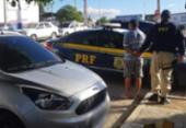 Homem é preso com veículo roubado e documento falso na BR-110 | Foto: Divulgação | PRF