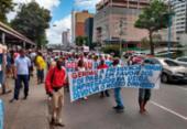 Metalúrgicos reivindicam pagamento de aposentadoria em protesto | Foto: Filipe Ribeiro | Ag. A TARDE