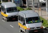 Motoristas de vans protestam na avenida Paralela | Foto: Margarida Neide I Ag. A TARDE
