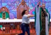 'Foi milagre', diz padre Marcelo Rossi após empurrão | Reprodução